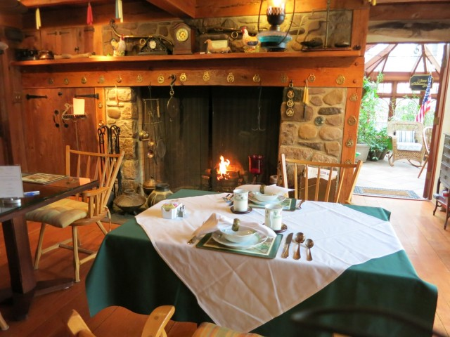 Winter breakfast at the Inn at Bowman's Hill, New Hope PA