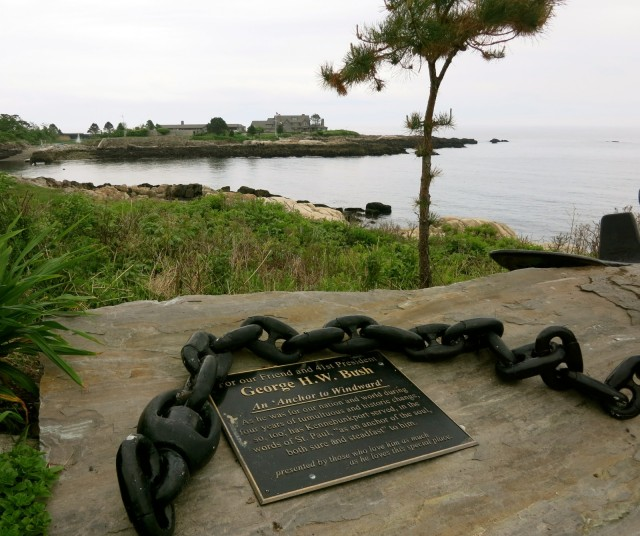 Overlooking Walkers Point, the Bush Summer Home, Kennebunkport ME