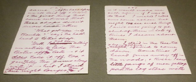Handwritten manuscript of The Adventures of Huckleberry Finn, Buffalo Public Library, Buffalo NY