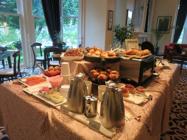 European Breakfast Spread, Mansion on Delaware, Buffalo NY