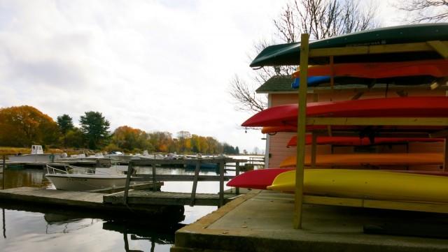 Kayaks at Stonington Marina