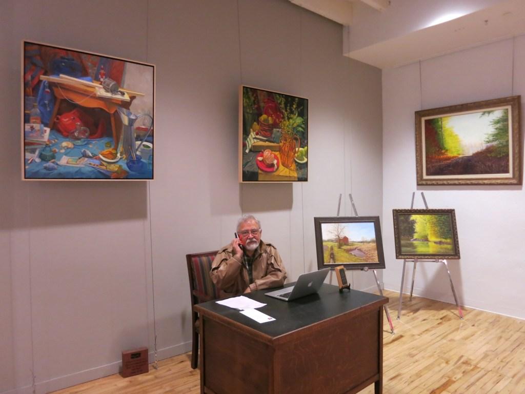 artist Juan Espino at Looking Glass Gallery