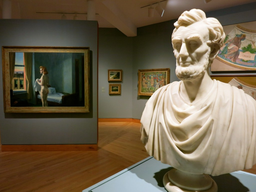 Abe and Hopper at Williams College Art Museum