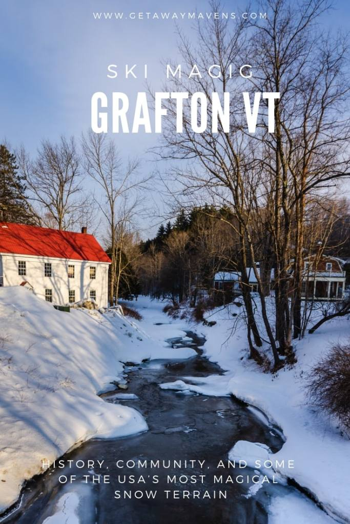 Visitors to Grafton, VT find history, community ties, and some of the USA's most magical snow terrain. #vermont #wintergetaways