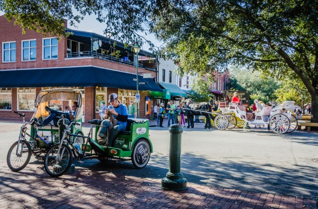 Bike Rickshaw - Horse-Drawn Carriages - Savannah GA
