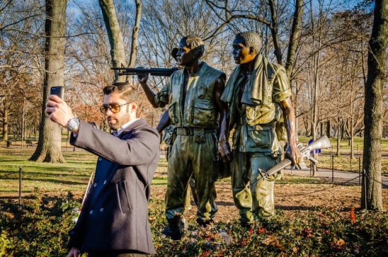 Three Soldiers - Vietnam Veteran Memorial - Washington DC in a Day