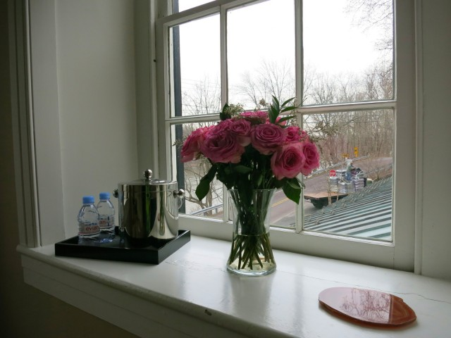 Fresh Flowers in Room at Golden Pheasant Inn