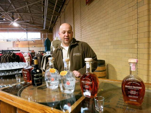 Sampling the goods at A. Smith Bowan Distillery, Fredericksburg VA