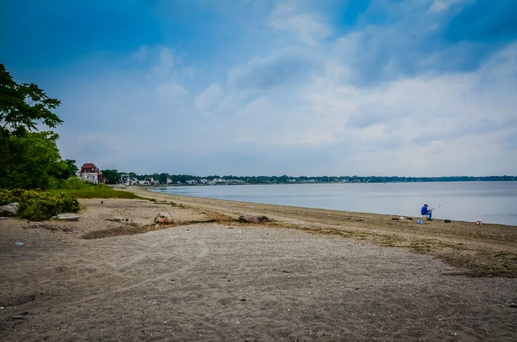 Drop a line on a quiet Rhode Island seashore.