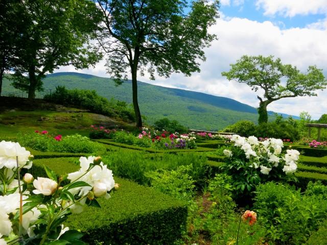 Hildene Gardens with Mountains