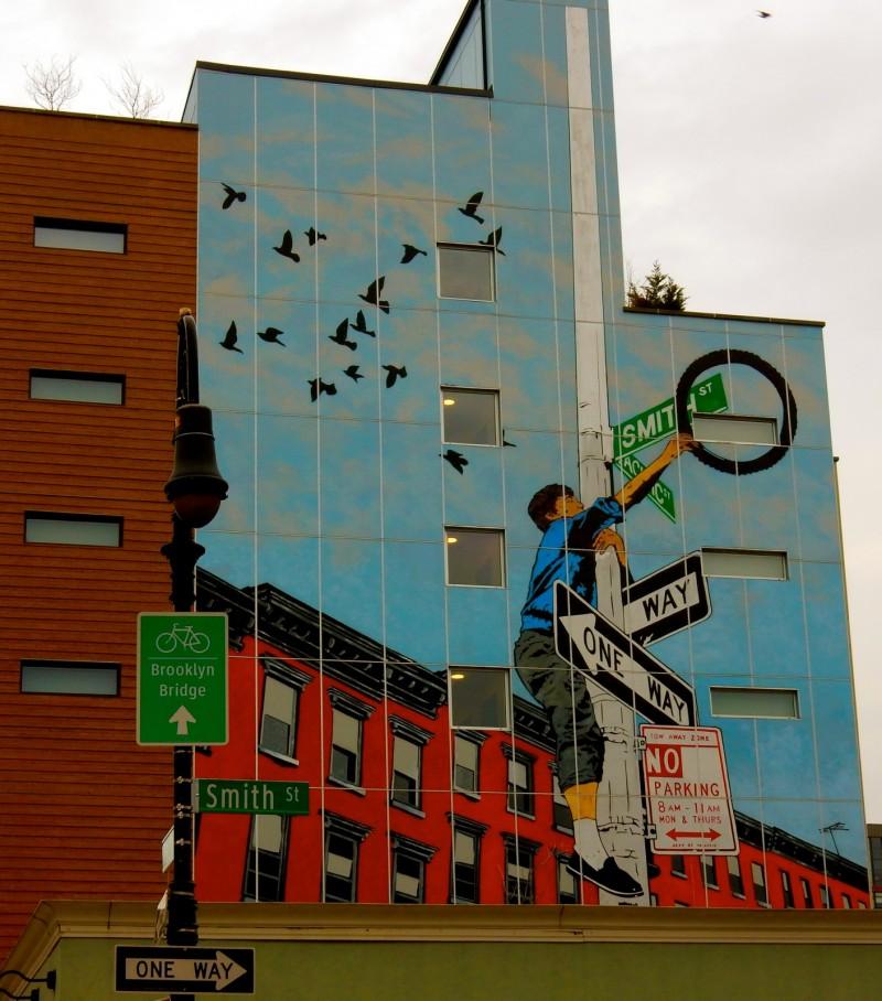 Smith St Mural, Cobble Hill Brooklyn NY