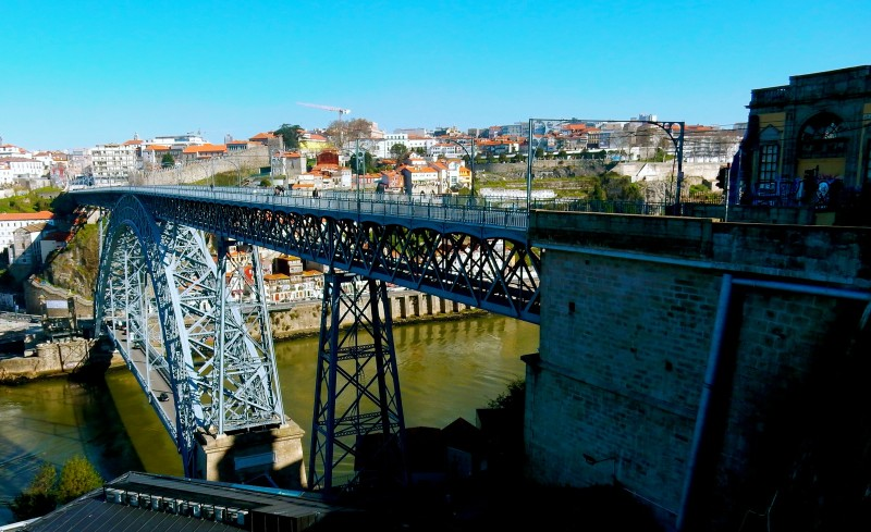Dom Luis Bridge over Douro River, Porto Portugal