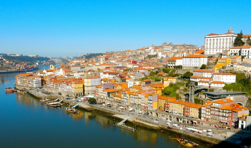 Porto view from Dom Luis Bridge