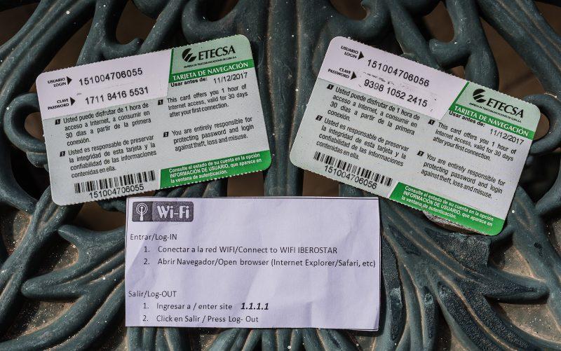 Cuba WiFi Cards