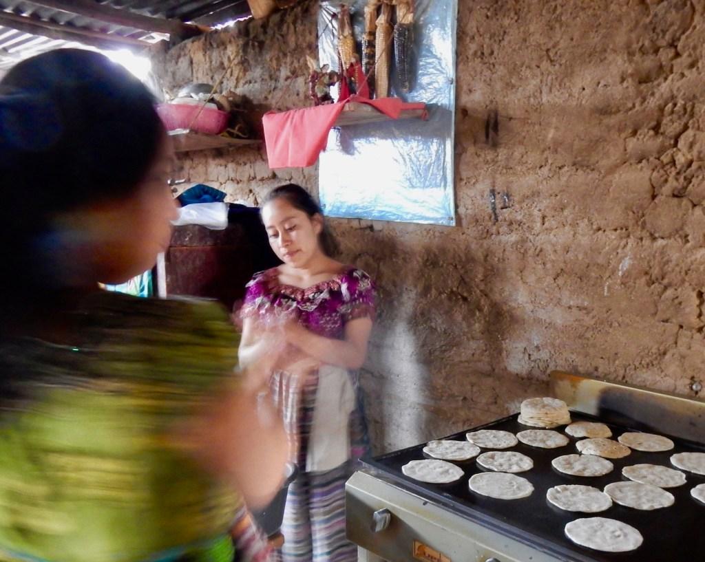 Tortilla makers, San Juan La Laguna, Lake Atitlan Guatemala