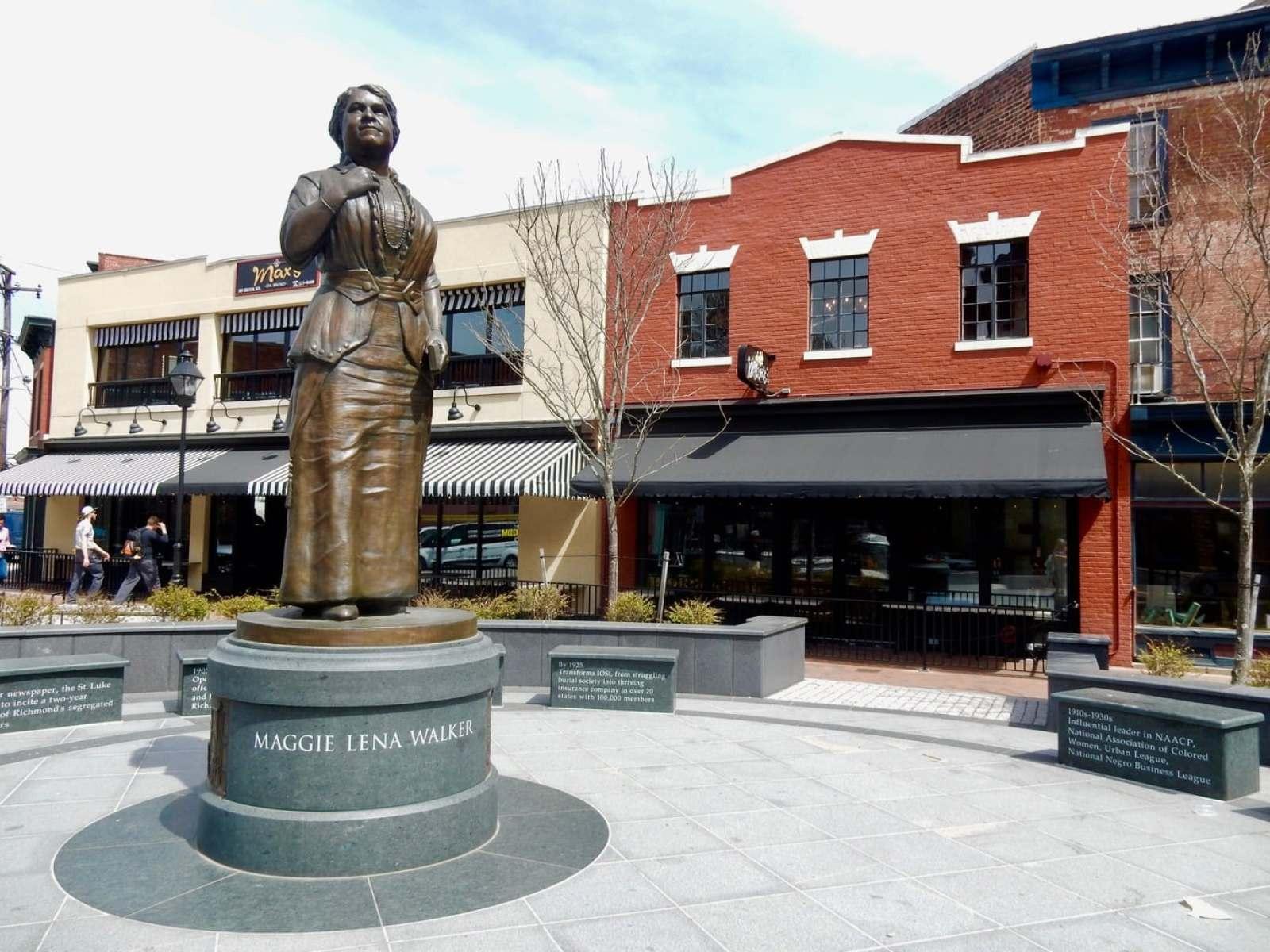 Statue of Maggie Lena Walker Richmond VA