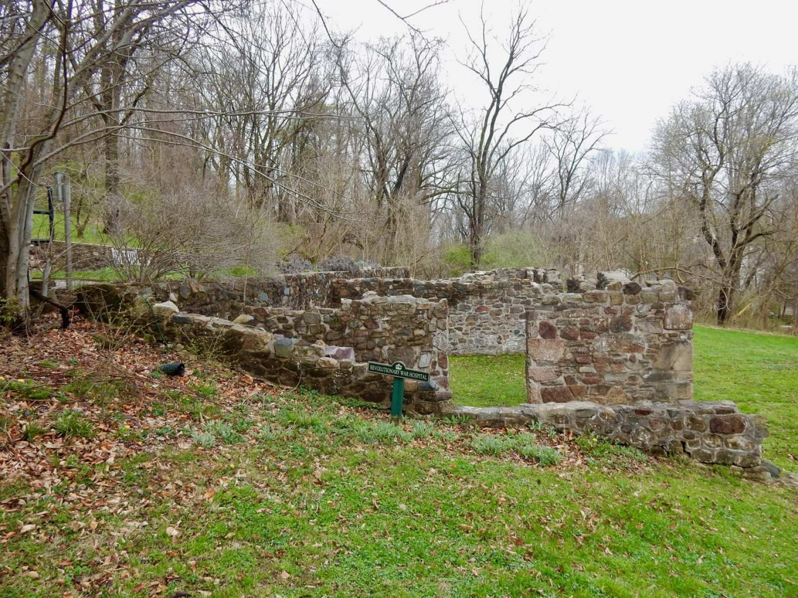 Remains of Revolutionary War Hospital Yellow Springs PA