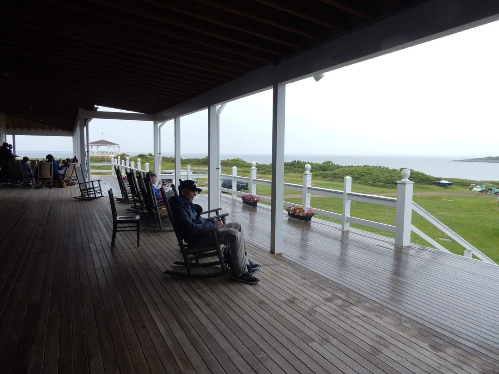 Front Porch Oceanic Hotel Star Island Isle of Shoals NH