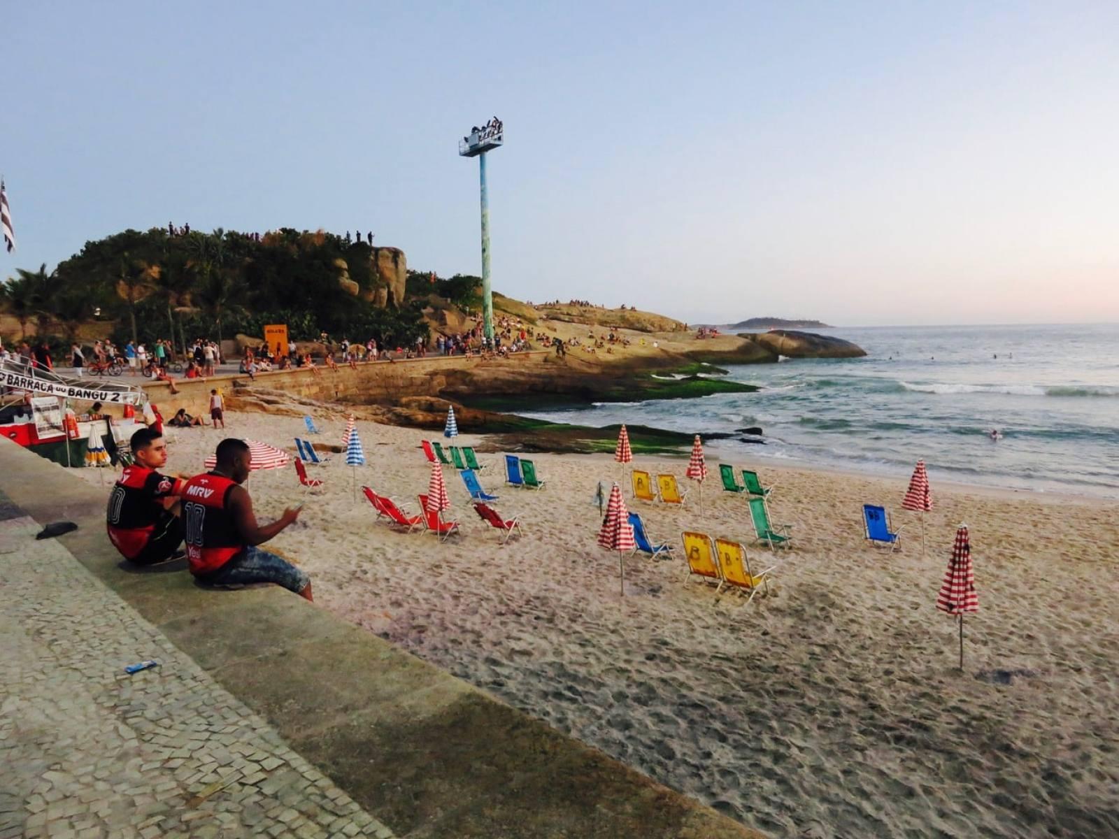 Sunset on Ipanema Beach Rio Brazil