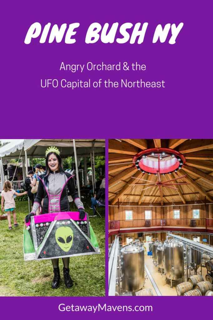 Weird and wacky, Pine Bush NY is not only the UFO Capital of the East Coast, it's also home to the legendary Angry Orchard Cidery, among other vineyards and breweries. Coincidence? You decide.