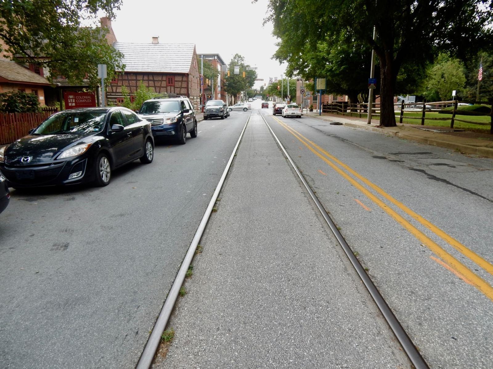 Active Train Tracks in Street York PA