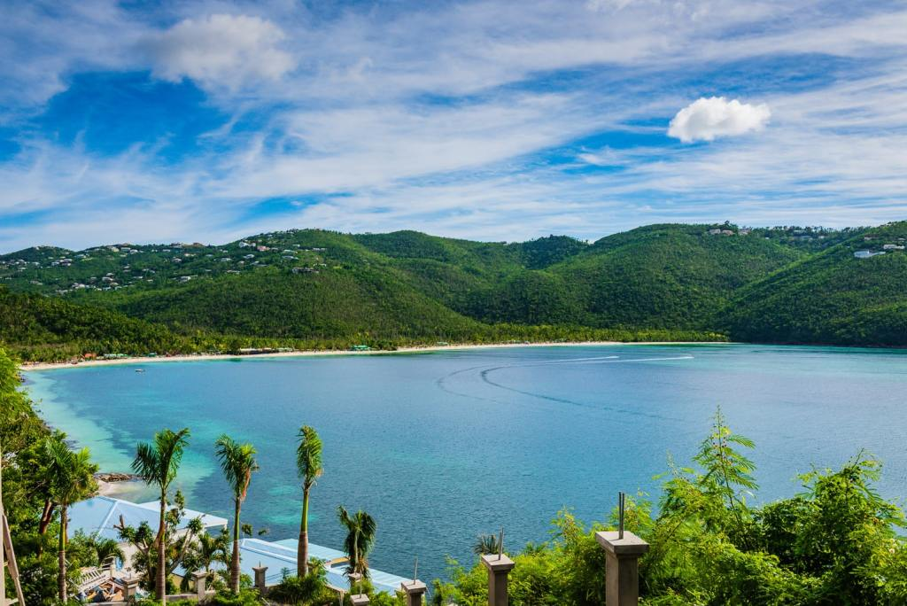 View of Magens Bay Beach on St. Thomas US Virgin Islands