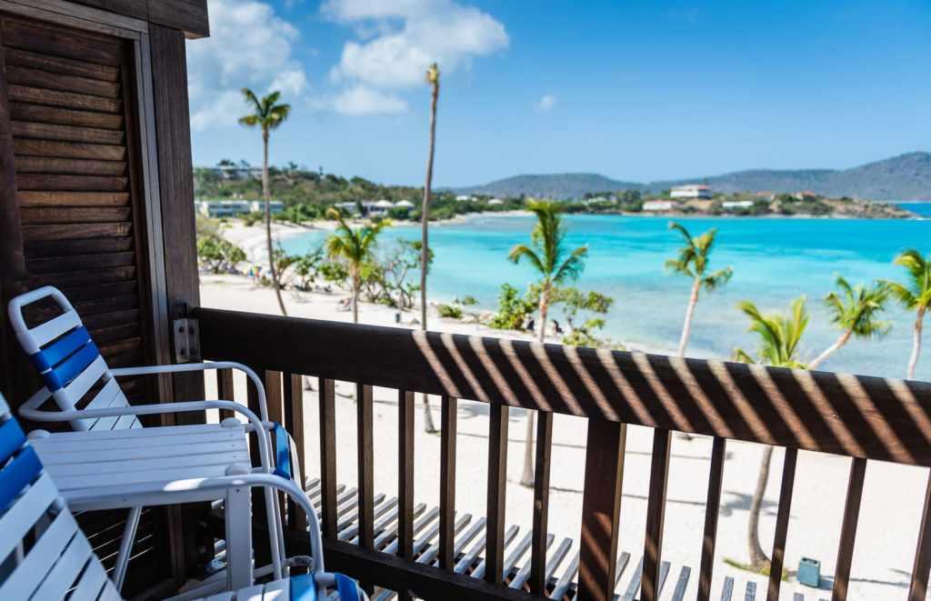 View of Sapphire Beach from Sapphire Beach Villas in St. Thomas US Virgin Islands