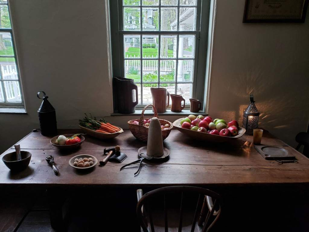 Table top Still Life at Keeler Tavern in Ridgefield CT