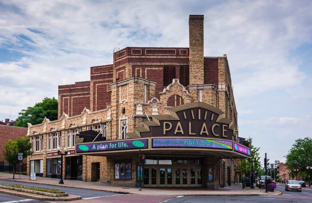 Exterior of Palace Theater in downtown Albany.