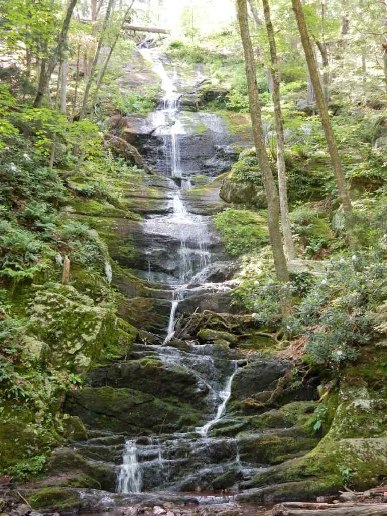 Mulit-tiered waterfall in Delaware Water Gap NJ