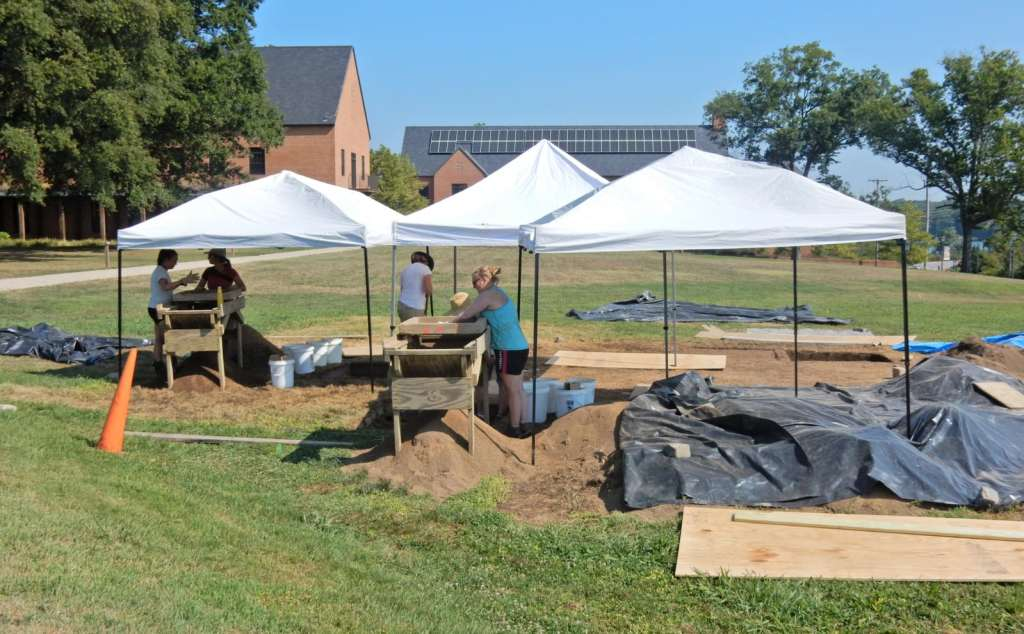 archeologists at work in the first Catholic Settlement in USA