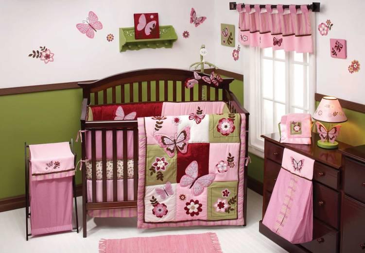 Unbelievable baby girl nursery ideas with dark furniture #babygirlroomideas #babygirlnurseryideas #babygirlroom