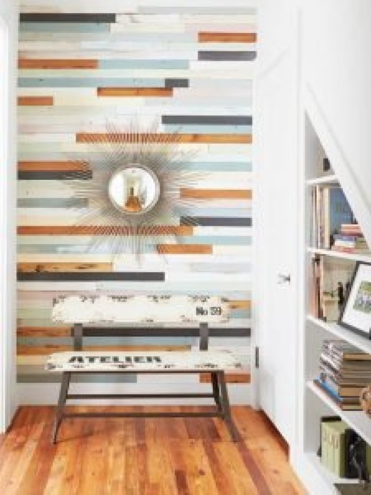 Terrific half bath accent wall ideas #accentwallideas #wallpaperideas #wallpaintcolor