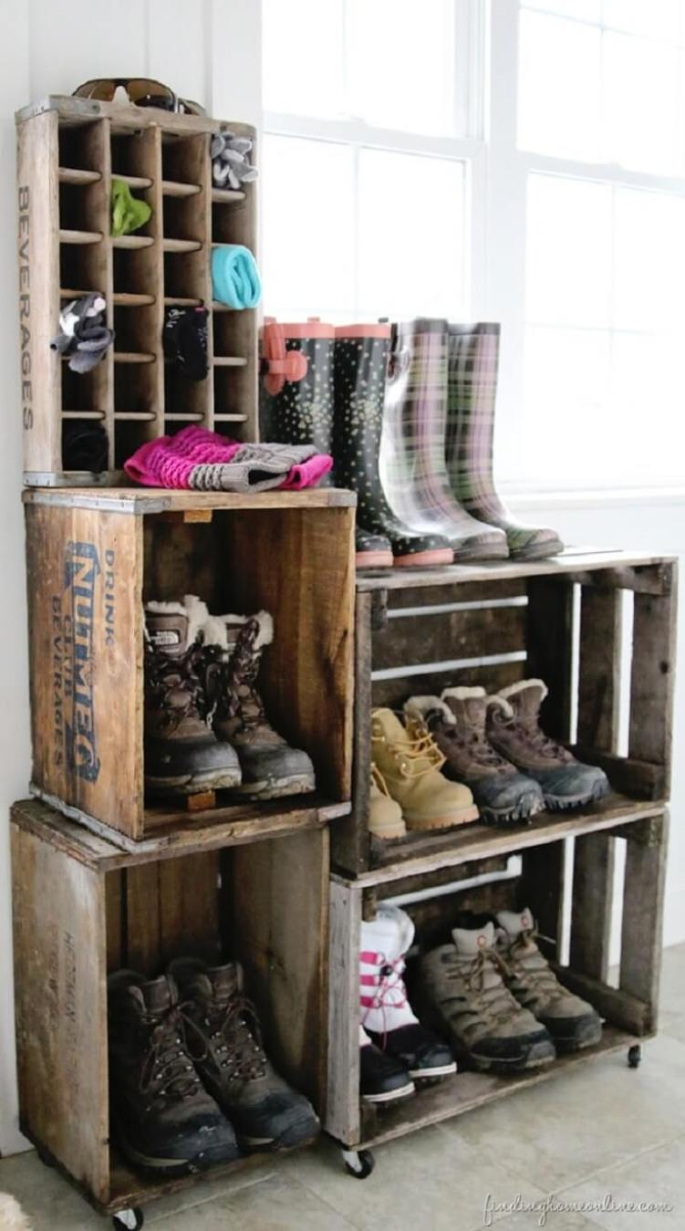Marvelous entryway bench with shoe storage #shoestorageideas #shoerack #shoeorganizer