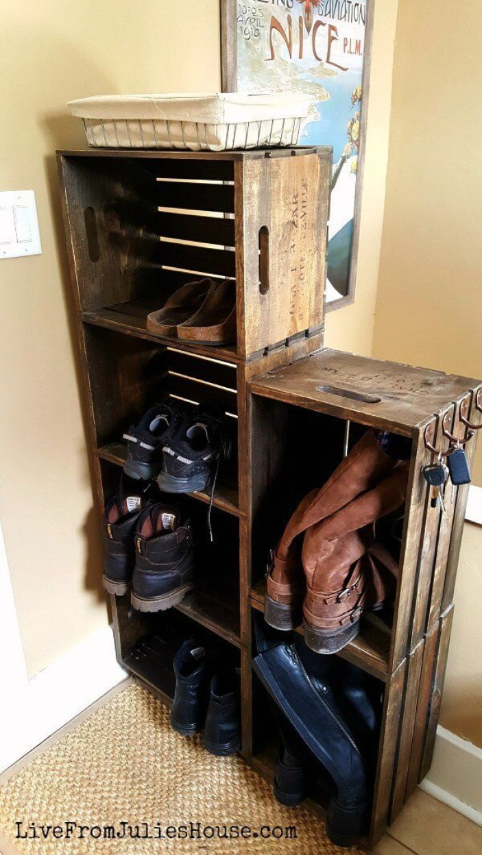 Striking shoe storage cabinet #shoestorageideas #shoerack #shoeorganizer