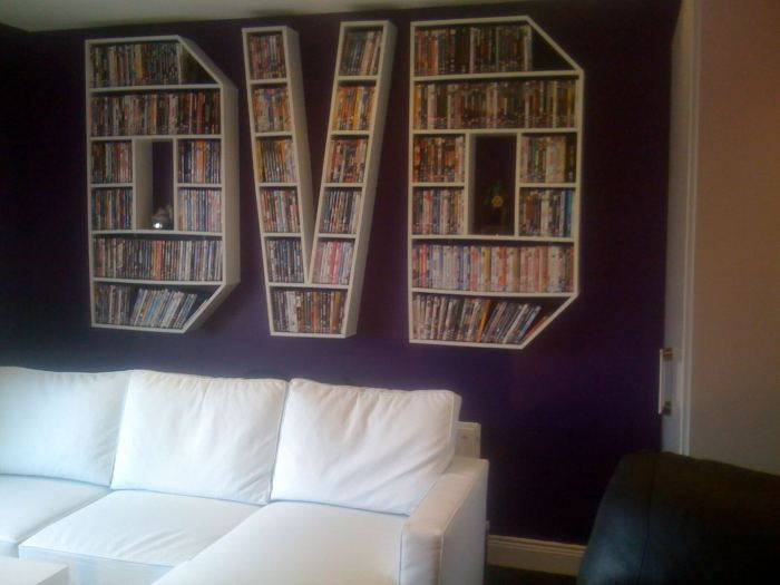 Staggering dvd player storage ideas #dvdstorageideas #cddvdstorage #dvdrack