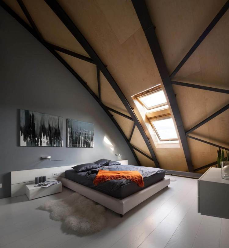 Wonderful attic bedroom design ideas pictures #atticbedroomideas #atticroomideas #loftbedroomideas