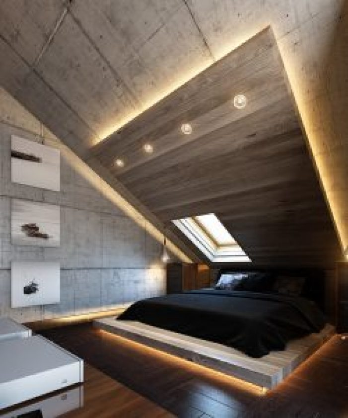 Delight slanted attic bedroom ideas #atticbedroomideas #atticroomideas #loftbedroomideas