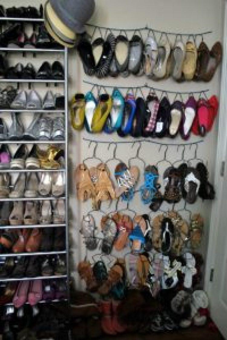 Astonishing closet shoe storage #shoestorageideas #shoerack #shoeorganizer