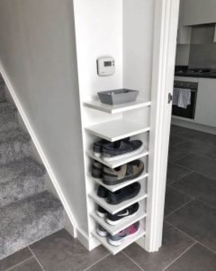 Terrific shoe storage ideas for laundry room #shoestorageideas #shoerack #shoeorganizer