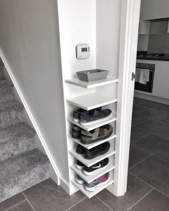 Terrific shoe storage ideas for laundry room #shoestorageideas #shoerack #shoeorganizer