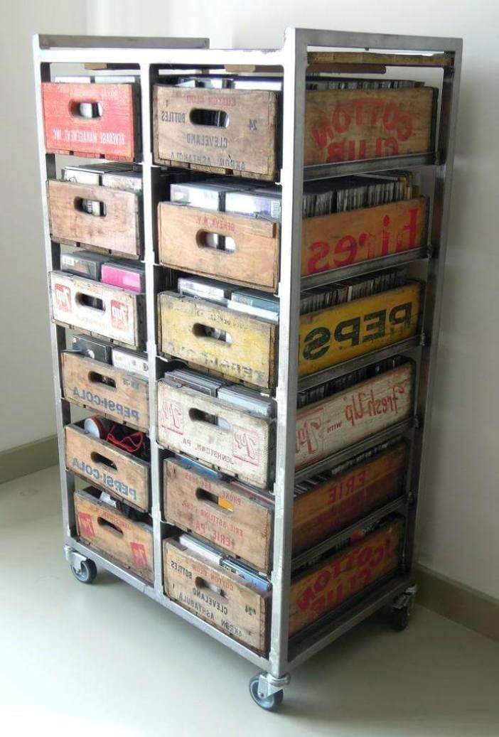 Brilliant craft storage desk #dvdstorageideas #cddvdstorage #dvdrack