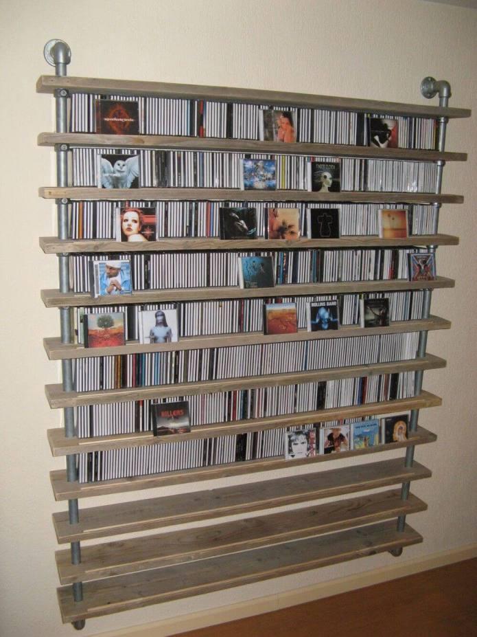 Unbelievable garage ideas for storage #dvdstorageideas #cddvdstorage #dvdrack