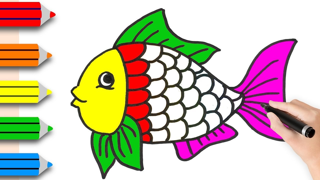 How To Draw A Fish Tutorial Easy Drawings Sketches Cute Cartoon Fish