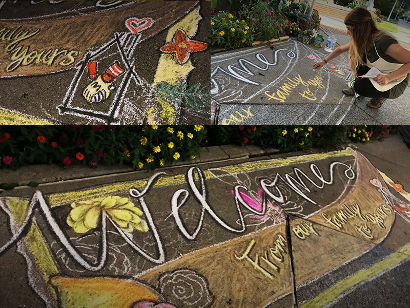 Ronald McDonald house Chalk design
