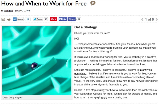 How and When to Work for Free