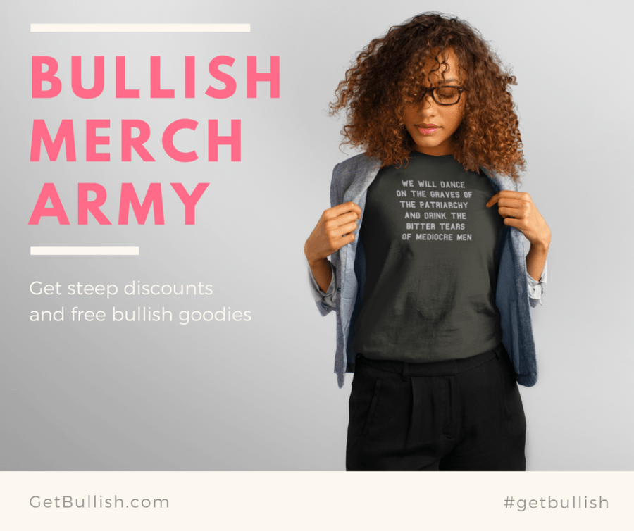 Join the Bullish Merch Army to receive huge discounts and presents!