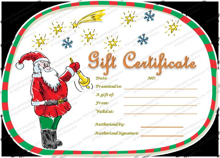 Christmas Editable Certificate Template Gift