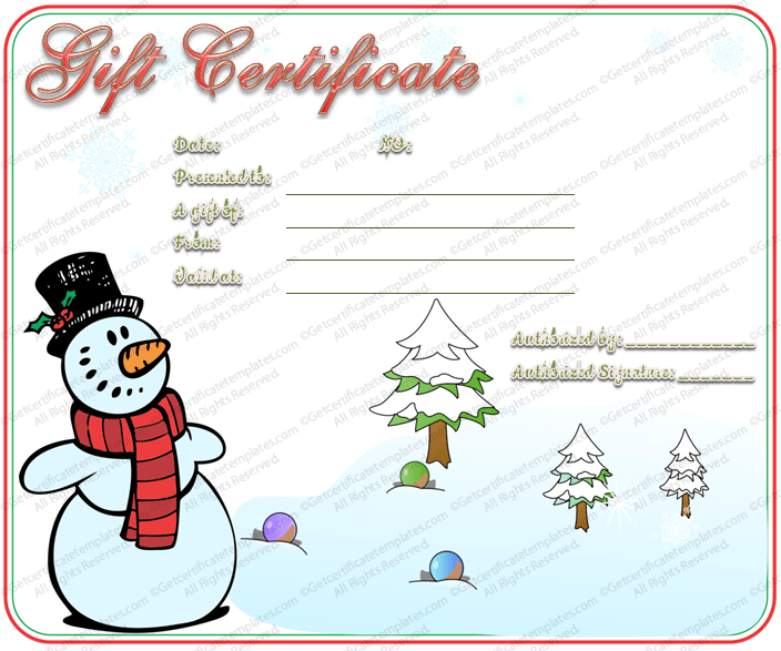 Doc494382 Donation Certificate Template Donation Certificate – Christmas Gift Certificates Free