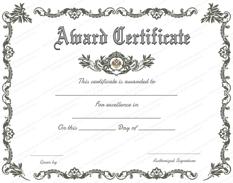 Template Certificates certificate border 1 best photos of – Blank Certificate Templates for Word